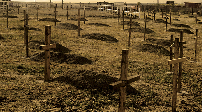 dormir en un cementerio